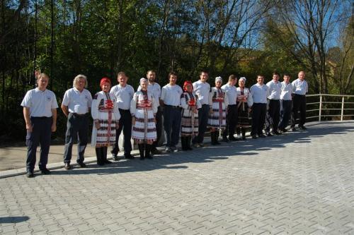Otevírání nové hasičské zbrojnice